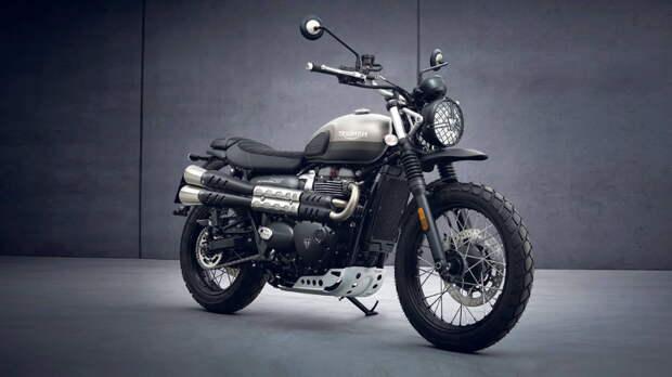 Мотоцикл Triumph Street Scrambler получит ограниченную серию с алюминиевой защитой мотора