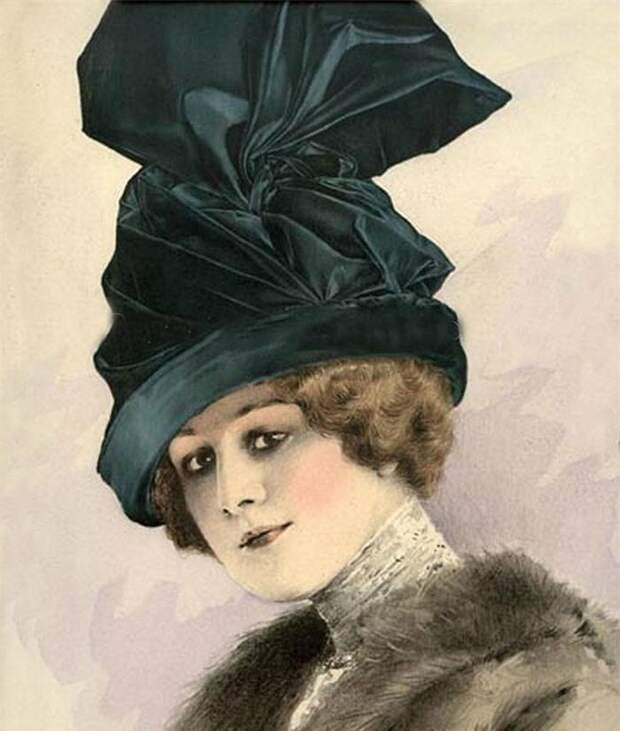Винтажные фото дамских шляпок