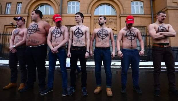 Акция Санкции против России - санкции против меня у посольства США в Москве. Архивное фото
