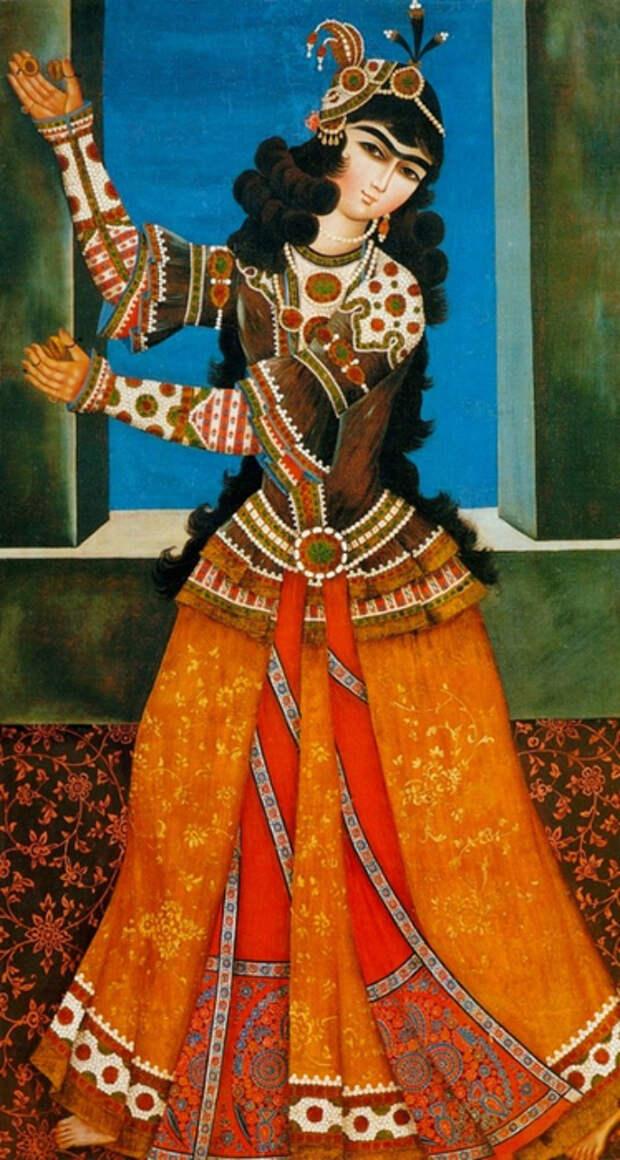 Танцовщица с пальчиковыми цимбалками.