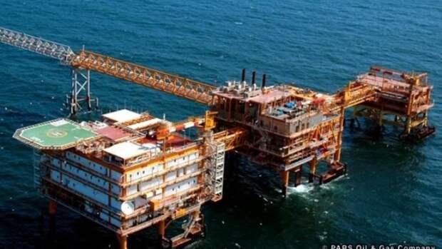 Южный Парс дает 630млн кубометров газа всутки