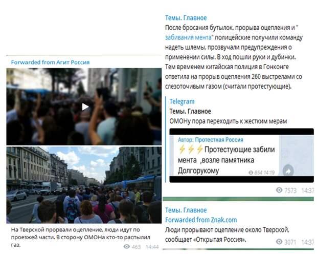Москва-2019: радикализация митинга по западным методичкам провалилась