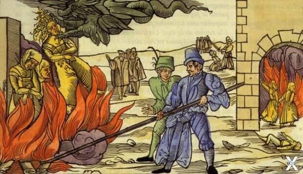 Сжигание ведьм в Гарце. 1555 год