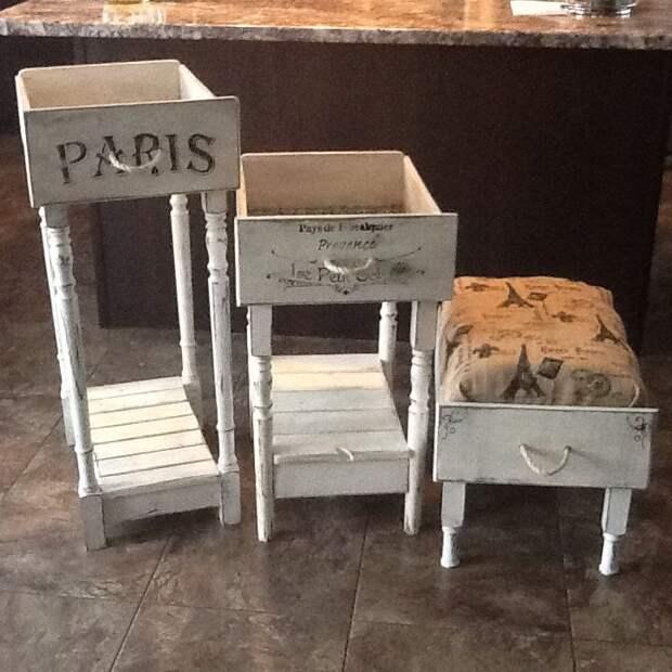Невероятное превращение: новая мебель из старых ящиков комода