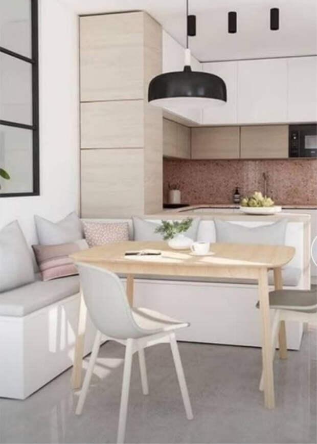 6 идей, как при помощи умного стола сэкономить много пространства в маленькой кухне
