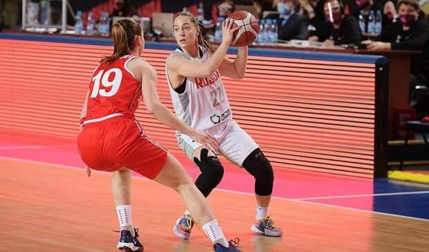 Женская сборная России разгромила Швейцарию в Оренбурге и вышла на Евробаскет-2021