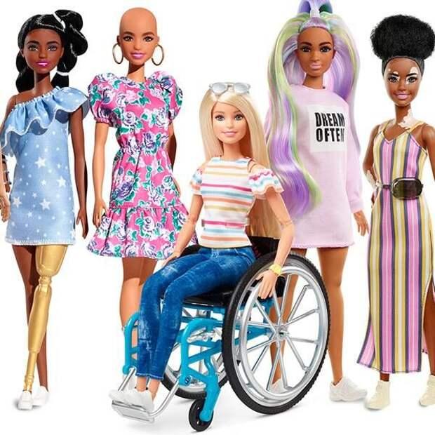 Барби без волос, с витилиго и протезами: компания Mattel выпустит инклюзивных кукол