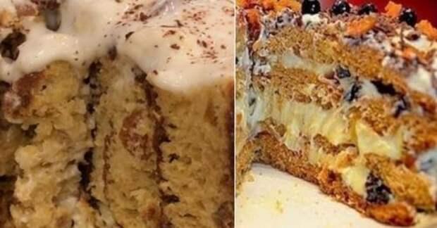 Пожалуй, это лучший торт на кефире!