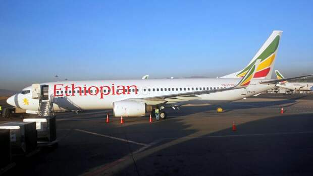 Самолет Boeing 737 компании Ethiopian Airlines