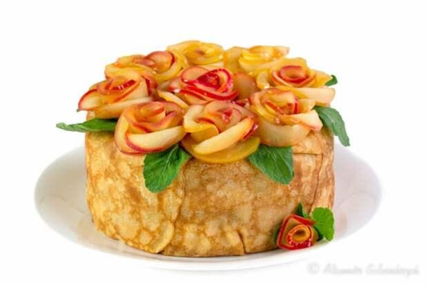 Закусочные тортики с овощами и фруктами