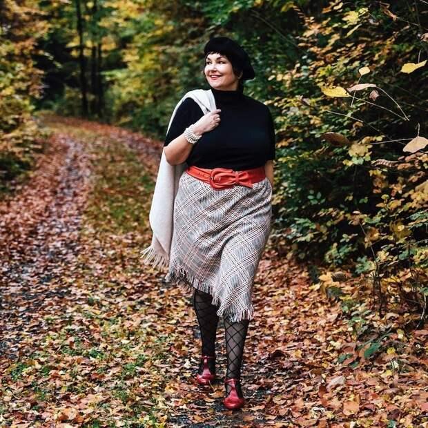 Большой размер в элегантном возрасте это приговор?: потрясающая модница, которая так не считает