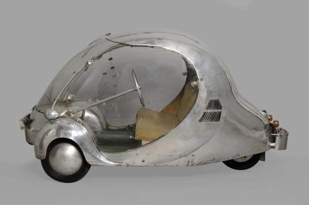 Электрический автомобиль яйцо Пола Арзенса, 1942 автомир, аэродинамика, из прошлого, конструкция, обтекаемость. формы
