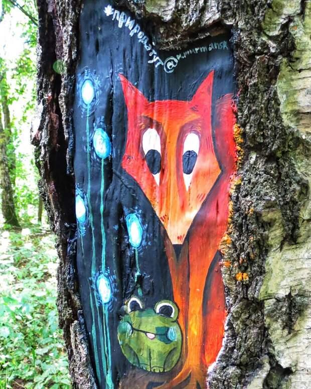 В заказнике «Алтуфьевский» художники украсят деревья рисунками в рамках акции «ПаркАрт»