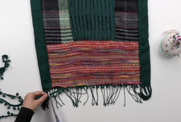 Оригинальная идея переработки старых шарфов