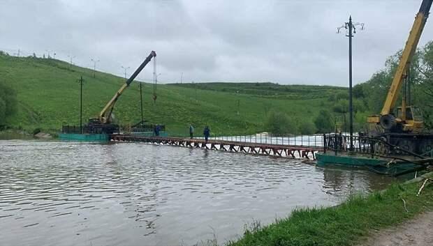 В Подольске после расчистки плотины снизился уровень воды в реке Пахра