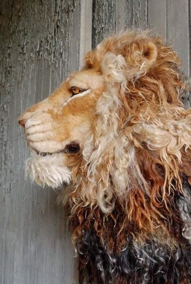 Валяный лев (Diy)