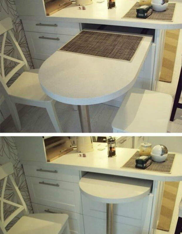 Кухонный шкафчик с выдвижным столиком.