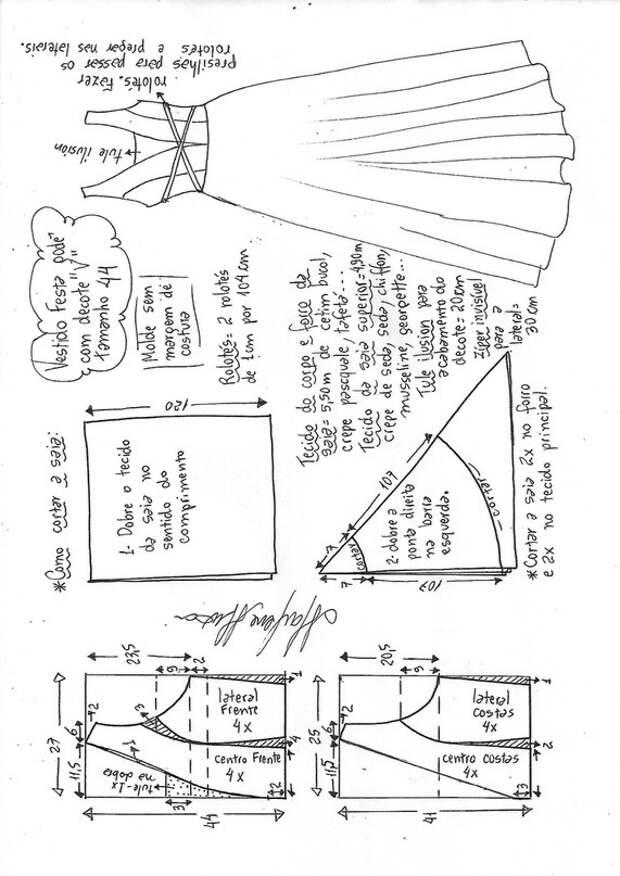 Выкройки новогоднего платья в пол