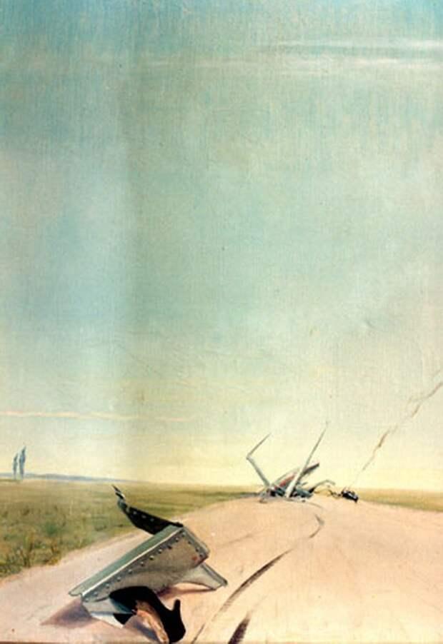 Эта картина кисти О.К. Антонова, изображающая авиакатастрофу, применительно к нынешней украинской действительности наполняется новым смыслом