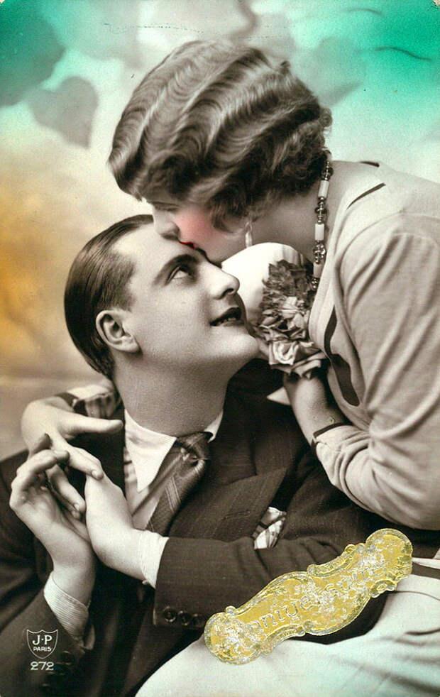 Французские открытки, в которых показано, как романтично целовались в 1920-е годы 17