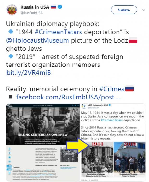 Украинское посольство в США выдало фото польских евреев за изображение крымских татар