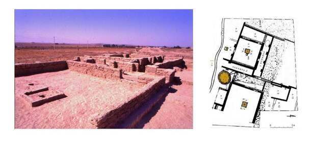 Здание на раскопе