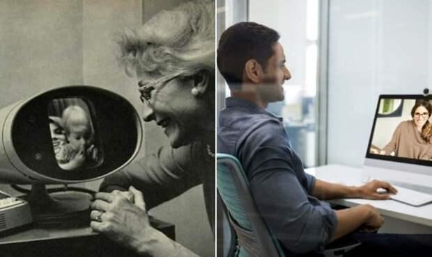 Оказывается, первый Skype придумали довольно давно. /Фото: pinterest.com