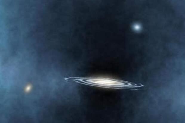 Черная дыра и галактика.