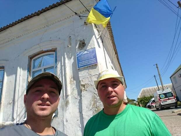 На границе с Крымом местные отлупили приезжих бандеровцев. 18+