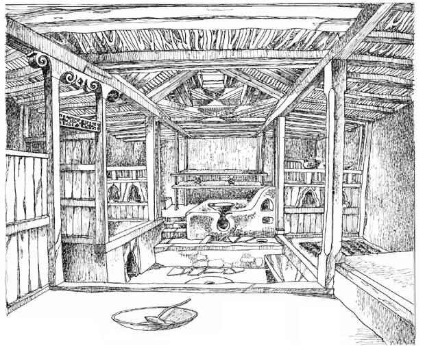 Памирский дом в селении Ямг