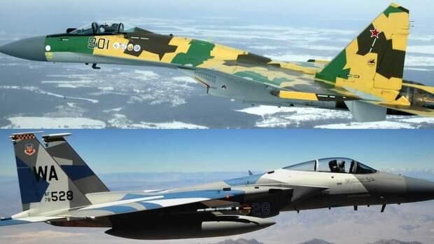 NI рассказал о преимуществах Су-35 перед американским F-15