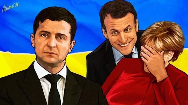 """Во Франции рассказали, как Макрон """"увильнул"""" от ответа на вопрос Зеленского о НАТО"""