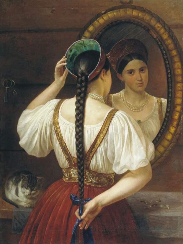 "Филипп Будкин ""Девушка перед зеркалом"""