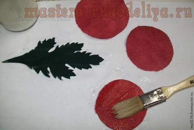 Мастер-класс по цветам из кожи: Брошь