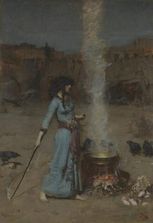 Волшебный круг (Магический круг), Джон Уильямс, 1886 год. \ Фото: tate.org.uk.