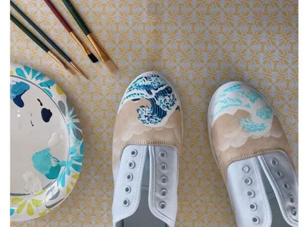 Большая волна в Канагаве... и на вашей обуви! (diy)