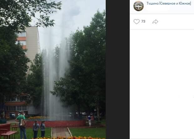 Четыре фонтана в Северном Тушине законсервировали