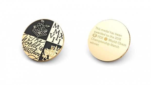 Графический конструктор: Shuka Design разработало медаль Чемпионата мира по шахматам