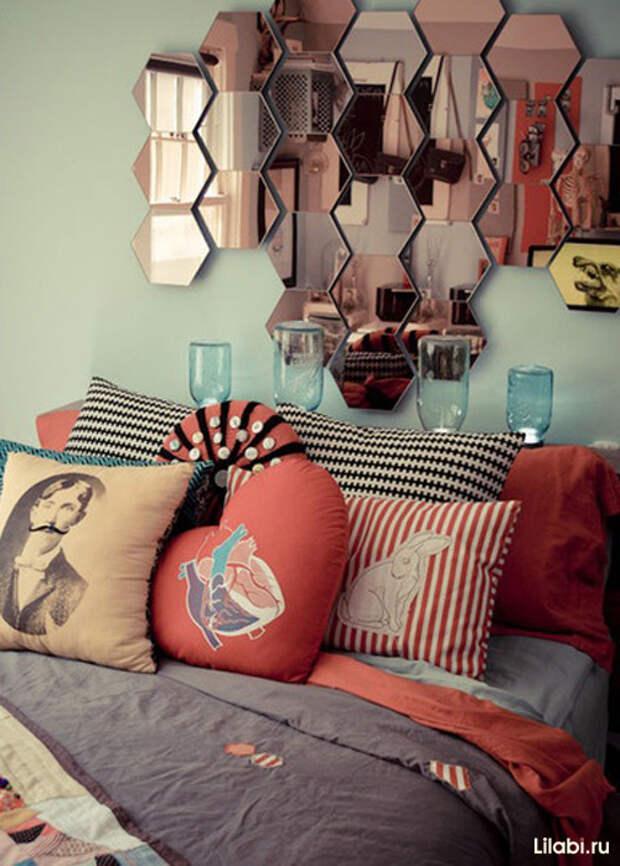 Украшение стен в квартире зеркалами фото