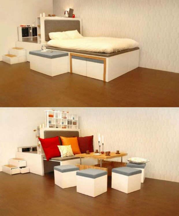 Трансформирующийся комплект мебели.