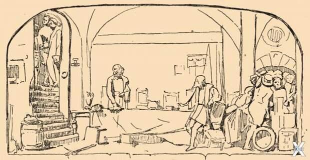 Инквизиция. Рисунок Марка Антокольско...