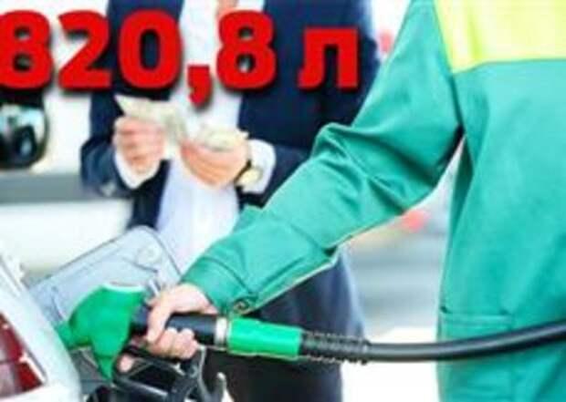 Всю зарплату на бензин! На сколько литров хватит россиянам?