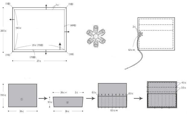 Сумочка-органайзер для крючков и спиц