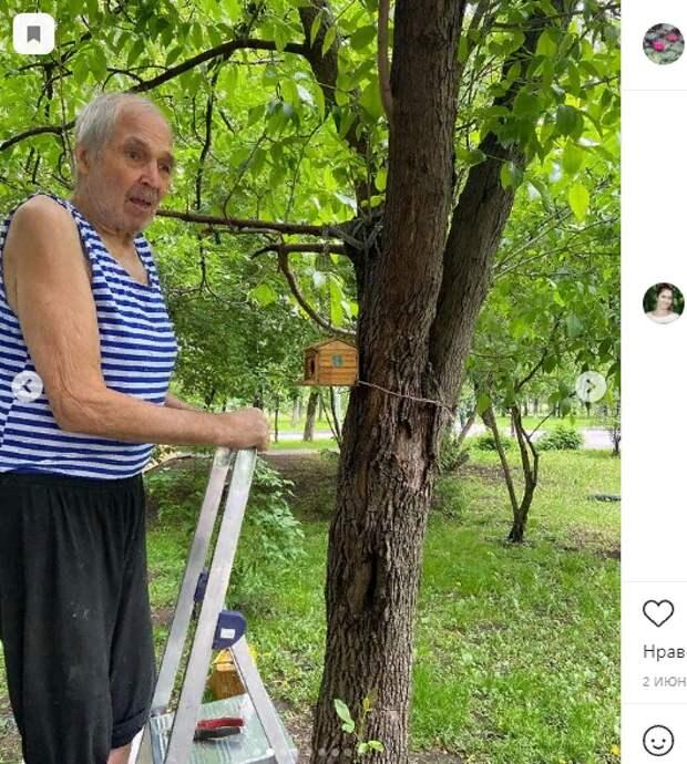 Умелец из Текстильщиков создает уникальные скворечники для птиц