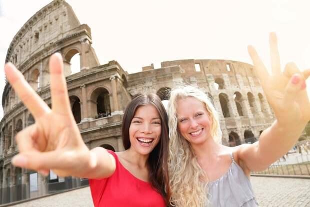Русские девушки в Риме.