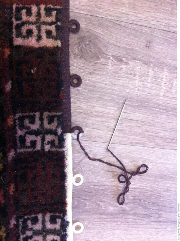 Ремонт ковра своими руками. Мастер-класс с фото