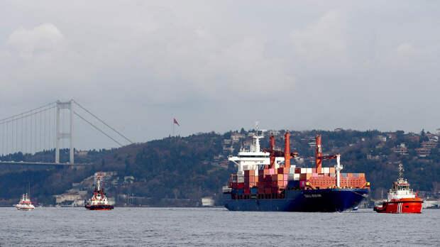 В Босфоре столкнулись российский и турецкий сухогрузы