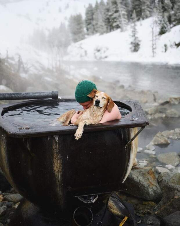 Как путешествуют фотограф Терон Хамфри и его собака Мэдди