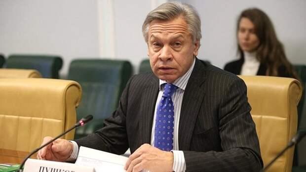«Все-таки вредно там быть послом»: Пушков ответил на угрозы Хербста в адрес России