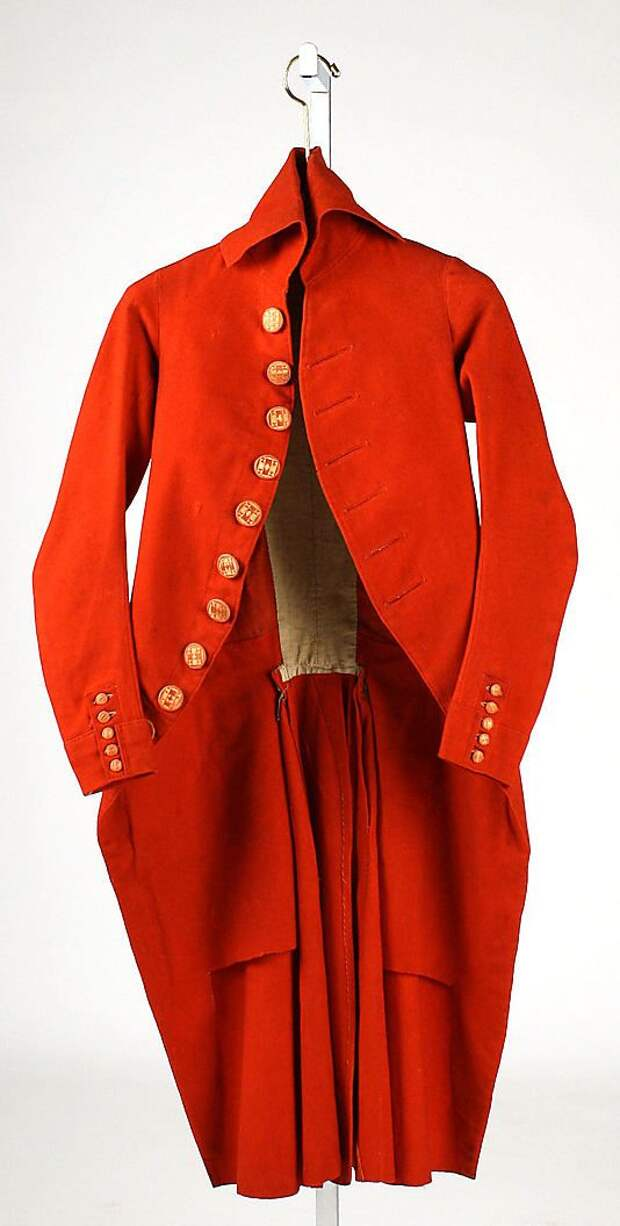 Unknown Maker. Men's Wool Coat. 1787–92. French.